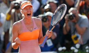 Sharapova wins first WTA title since drugs ban