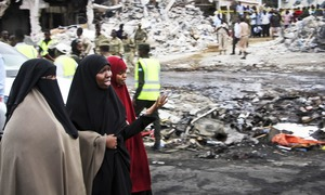 In pictures: Somalia's 'deadliest attack ever'