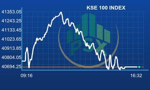 PSX falls flat after volatile session
