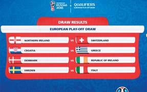 Italy to face Sweden in 2018 World Cup playoff