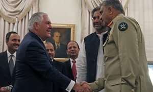 Tillerson in Pakistan with a tough message on 'safe havens'