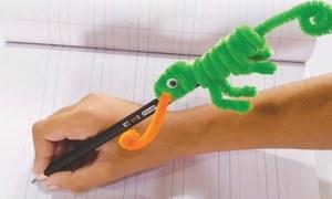 Wonder Craft: Chameleon pencil topper