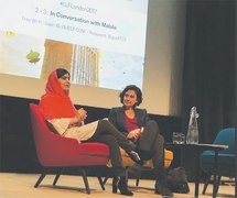 Lively discussions at LLF event in London on history, girls' education