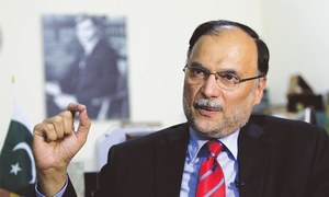 'Hidden hands' pushing country towards democratic instability: Ahsan Iqbal