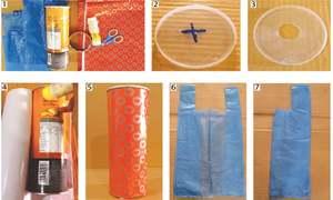 Wonder Craft: Plastic bag dispenser