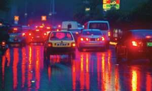 Rain ends dry spell, smog