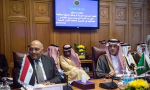 Saudi, Bahrain target Iran at Arab League meeting