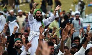 Tehreek-i-Labbaik Pakistan continues sit-in at Karachi's Numaish