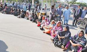 Lady health workers stage protests in different towns