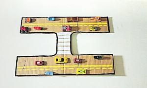 Wonder Craft: Car track wall art