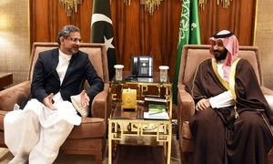 PM Abbasi, army chief meet Saudi king to discuss bilateral ties