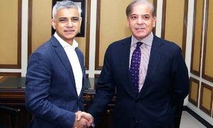 Mayor of London Sadiq Khan arrives in Lahore, meets CM Shahbaz Sharif