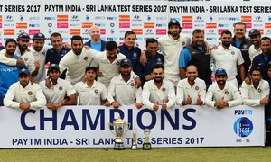 Sri Lanka draw leads India to record ninth Test series victory in a row