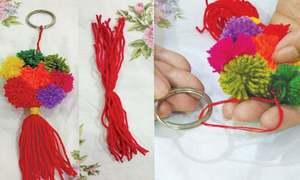 Wonder Craft: Pompom key ring