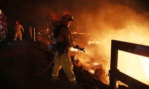 امریکا میں خوفناک آتشزدگی