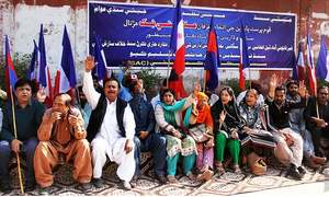 Sindhi nationalists stage protest against 'settlement of foreigners'