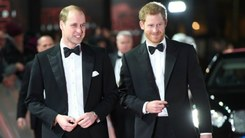 Princes William and Harry attend Star Wars premiere in London