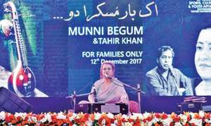 Ghazal night with Munni Begum brings back melody to Peshawar