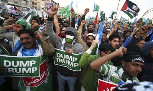 Thousands rally in Lahore and Karachi to express solidarity with Palestinians