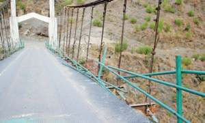 Damaged Bisham bridge puts lives of users in danger