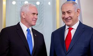 Pence in Jerusalem pledges US embassy move by end of 2019, faces protest