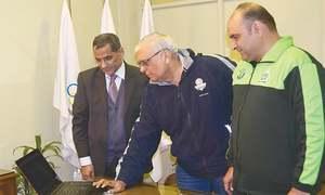 POA chief inaugurates softball website
