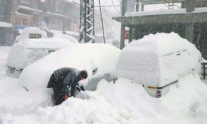 Infant dies as KP, Fata receive heavy rain, snowfall