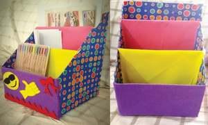 Wonder Craft: Cereal box desk organiser