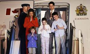 Trudeau touches down in India for week-long state visit