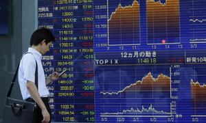 Asian markets look up as investor sentiments calm