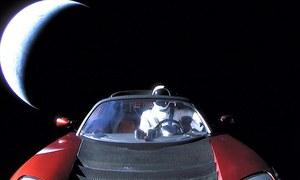 مدار میں بھیجی گئی کار اب کہاں ہے؟