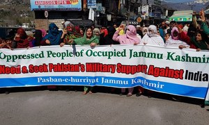 Islamabad's military support sought for 'freedom movement' in held Kashmir