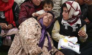 Syria army bombs splintered Ghouta enclave as bodies pile up