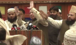 Most party leaders deplore 'shoe attack' on Sharif