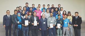 Coaches praise softball training course in Japan