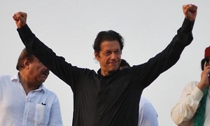 Imran dares PML-N: 'I'm a good catcher; hurl a shoe and I'll throw it back'