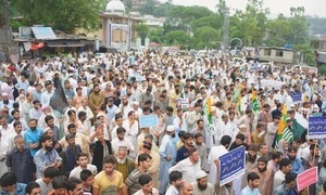 Solidarity march in AJK today for Indian firing victims
