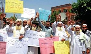 PTM supporters protest over filing of FIR against Pakhtun protest leaders