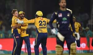 More last-ball drama as Peshawar Zalmi knock Quetta Gladiators out of PSL 2018