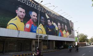 کراچی میں پی ایس ایل کے استقبال کی تیاریاں عروج پر