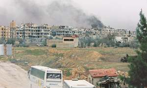 Syrian rebels quit another stronghold in eastern Ghouta