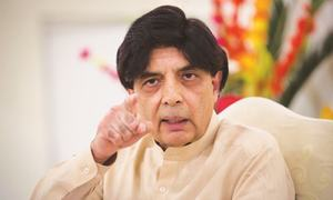 Javed Hashmi should not use my shoulder to regain PML-N's trust: Nisar