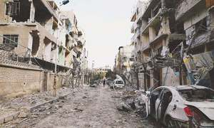 Damascus's 'leave or die' tactics force Syrians to flee rebel enclave