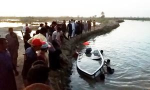 Six family members drown as small boat capsizes in Nawabshah