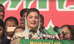 Zardari and Imran are 'brothers', Maryam tells crowd in Swat
