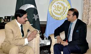 Indian High Commissioner calls on NSA Janjua to discuss worsening situation in Kashmir