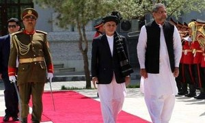 PM Abbasi discusses regional security, connectivity with Afghanistan's Ghani