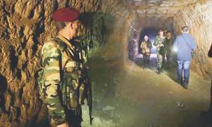 Rebels and civilians used tunnels to survive the near total destruction of Ghouta