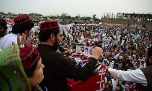 'We are against the oppressors': PTM leader Manzoor Pashteen tells thousands at Peshawar rally