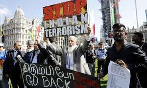 لندن: بھارتی وزیر اعظم کا 'احتجاج' سے استقبال